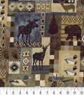 Snuggle Flannel Fabric 42\u0022-Woodland Patch Distressed