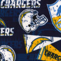 Los Angeles Chargers Fleece Fabric-Retro