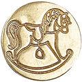 Manuscript Decorative Seal Coin-Rocking Horse
