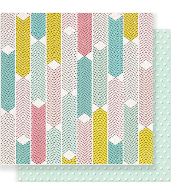 """Maggie Holmes Carousel Double-Sided Cardstock 12""""X12""""-Dazzle"""