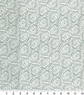 Quilter\u0027s Showcase Cotton Fabric -Floral Outline on Gray