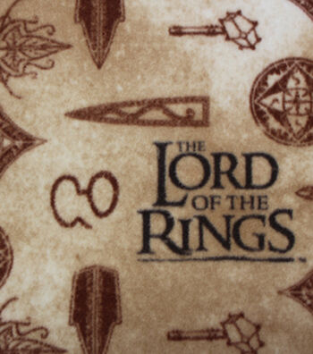 """Lord of the Rings Fleece Fabric 58""""-Symbols"""