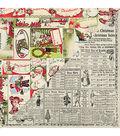 Nostalgia Double-Sided Cardstock 12\u0022X12\u0022-#1 Gift Tag Collage