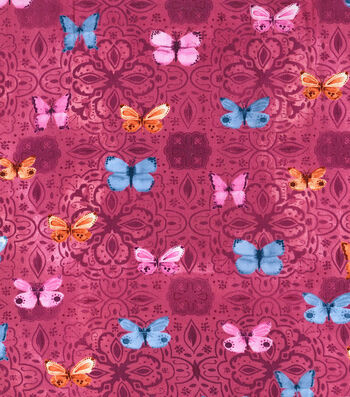 """Kathy Davis® Apparel Rayon Fabric 53""""-Ombre Butterfly"""
