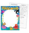 Welcome Sea Buddies Learning Chart 17\u0022x22\u0022 6pk