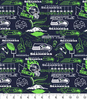 Seattle Seahawks Cotton Fabric-Hometown, , hi-res
