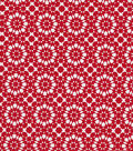 Quilter\u0027s Showcase Cotton Fabric 44\u0022-Red Kaleidescope On White