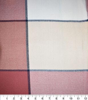 "Sportswear Acrylic Plaid Fabric-Pink 6"" Check"