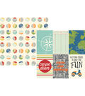 Simple Stories Travel Notes Double-sided Vertical Elements Cardstock