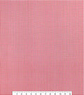 Sportswear Stretch Twill Fabric 57\u0027\u0027-Red & White Mini Checks