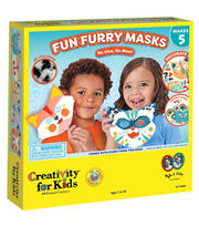 Creativity for Kids Fun Furry Masks Kit, , hi-res