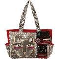 Laurel Burch Medium Tote Zipper Top 16.5\u0022x4\u0022x9.75\u0022-Whiskered Cat