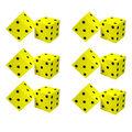 Koplow Games Foam Spot Dice, 2\u0022, 2 Per Pack, 6 Packs