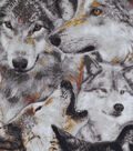 Novelty Cotton Fabric-Packed Wolves