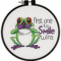 Dimensions Learn-A-Craft Counted Cross Stitch Kit First One To Smile