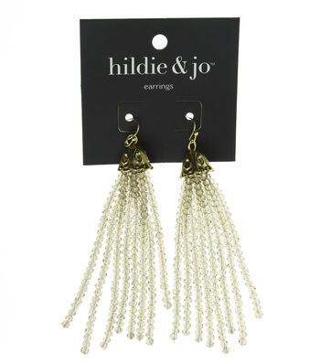 hildie & jo Tassel Beaded Earrings