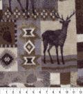 Anti-Pill Fleece Fabric 59\u0022-Moose Patch Brown