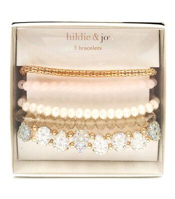 hildie & jo 5 pk Bracelets in a Box-Rose Gold
