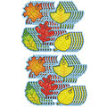 Carson Dellosa Dazzle Stickers Fall Leaves, 75 Per Pack, 12 Packs