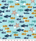 Nursery Flannel Fabric-George Fishes