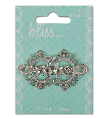 Bliss Crystal Scroll Buckle