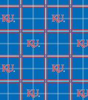 "University of Kansas Jayhawks Flannel Fabric 42""-Plaid, , hi-res"