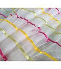 Glitterbug Ribbon Tulle Fabric 50\u0027\u0027-Rainbow