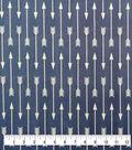 Soft & Comfy Fleece Fabric-Navy & White Arrow