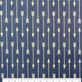 Soft & Comfy Fleece Fabric-White Arrows on Navy