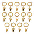Kenney Curtain Rod Clip Rings-Gold