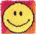Wonderart Latch Hook Kit 12\u0022X12\u0022-Smiley Face