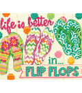 Dimensions 7\u0027\u0027x5\u0027\u0027 Counted Cross Stitch Kit-Flip Flops