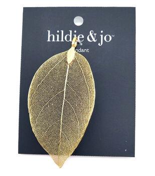 hildie & jo Stone Gold Leaf Pendant