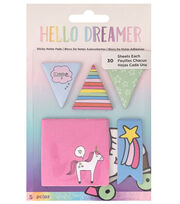 American Crafts Hello Dreamer 5 pk Sticky Notes Pads, , hi-res