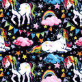 Snuggle Flannel Fabric -Majestic Rainbow Unicorns