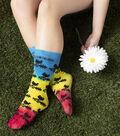 Tulip Crazy Adult Socks-Woodstock 50