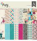 Authentique Party 24-sheets 12\u0027\u0027x12\u0027\u0027 Double-sided Cardstock Pad