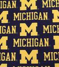 University of Michigan Wolverines Canvas Fabric -Logo