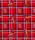 St. Louis Cardinals Flannel Fabric 42\u0022-Plaid