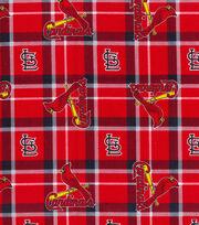 St. Louis Cardinals Flannel Fabric-Plaid, , hi-res