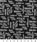 Harry Potter Cotton Fabric 44\u0022-Names and Words