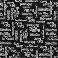 Harry Potter Cotton Fabric -Names and Words