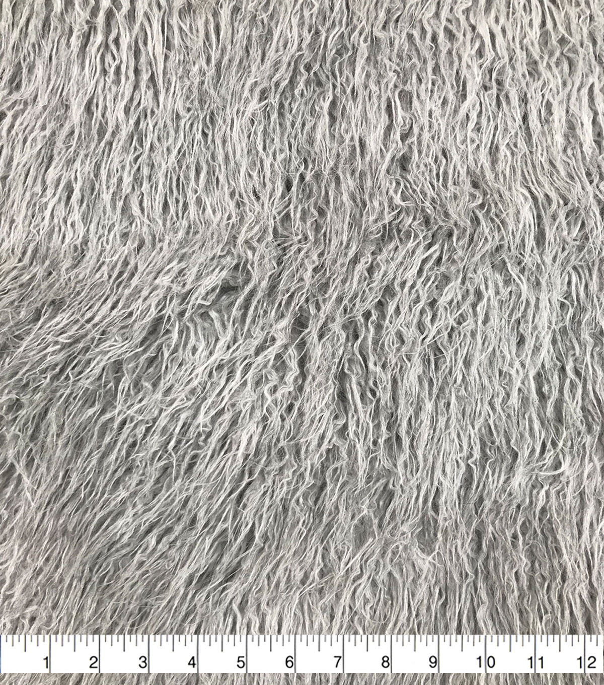 Super Luxury CURLY FRILLS Faux Fur Fabric Material TAUPE
