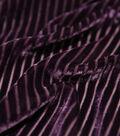 Casa Embellish Burnout Velour Fabric 52\u0027\u0027-Blackberry Wine Stripes
