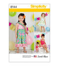 Simplicity Pattern 8144 Toddlers\u0027 Outfits & Doll Clothes-Size A (1/2-4)