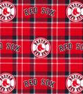 Boston Red Sox Flannel Fabric-Plaid
