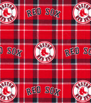 "Boston Red Sox Flannel Fabric 42""-Plaid, , hi-res"