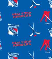 New York Rangers Fleece Fabric -Tossed, , hi-res