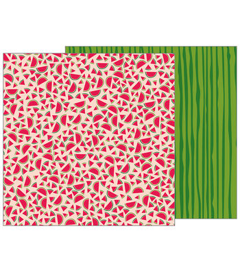 Pebbles Jen Hadfield Patio Party 12''x12'' Double-Sided Cardstock-Slices