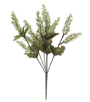 Blooming Autumn 16'' Heather Bush-Cream